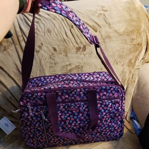 Vera Bradley Lighten Up Weekender Berry Burst Bag